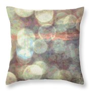 Champagne Bubbles And Sunset Throw Pillow