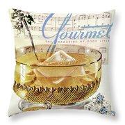 Champagne Punch And The Wedding March Throw Pillow