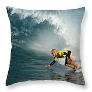 Champion At Pipeline Masters  Throw Pillow