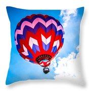 Champion Hot Air Balloon Throw Pillow