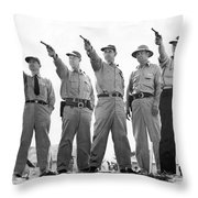 Champion Police Shooters Throw Pillow