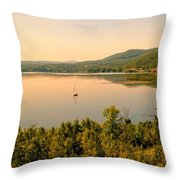 Champlain Viewed From Ticonderoga Throw Pillow