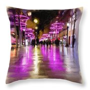 Champs Elysees In Pink Throw Pillow