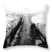 Champs Elysees - Paris Throw Pillow