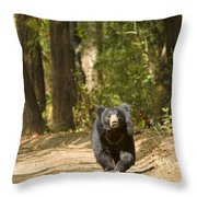 Chance Encounter With The Hairy One Throw Pillow