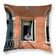 Chance Meeting In Venice Throw Pillow