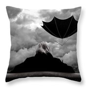 Chance Of Rain   Broken Umbrella Throw Pillow