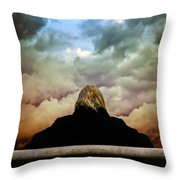 Chance Of Rain First Panel  No Umbrella Throw Pillow