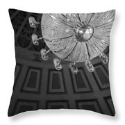 Chandelier-black And White Throw Pillow