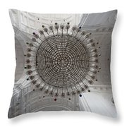 Chandelier In Goa Cathedral Throw Pillow