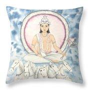 Chandra The Moon Throw Pillow