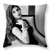 Chanel Chanel Bw Palm Springs Throw Pillow