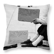 Change In Our Pockets Throw Pillow