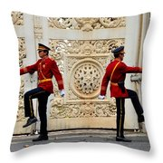 Change Of Guards Ceremony Dolmabahce Istanbul Turkey Throw Pillow