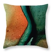 Green Abstract Art - Changing Course - Sharon Cummings Throw Pillow