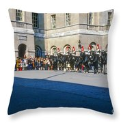 Changing Of The Horse Guard  Throw Pillow