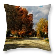 Changing To Fall Colors In Dwight Il Throw Pillow
