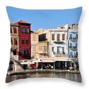 Chania City Throw Pillow