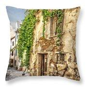 Chania Old Street Throw Pillow