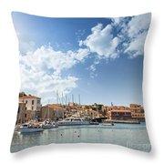 Chania Town On Crete Throw Pillow