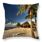 Chankanaab Beach Throw Pillow