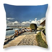 Chankanaab Walkway Throw Pillow