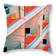 Channeling Mondrian  Throw Pillow