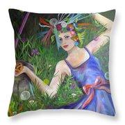 Chanterella Throw Pillow