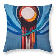 Chanukah Nes Gadol Throw Pillow