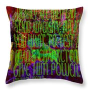 Chaos And Power Throw Pillow