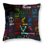 Chaos In Colors Throw Pillow