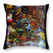 Chaos In Flight Throw Pillow