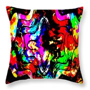 Chaos In My Mind Throw Pillow