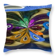 Chaos In Sewing.  Throw Pillow