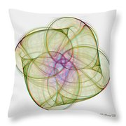 Chaoscope Abstract 3d Stereo - Use Red-cyan Filtered 3d Glasses Throw Pillow
