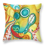 Chaotic Canine Throw Pillow