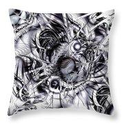 Chaotic Space Throw Pillow by Anastasiya Malakhova