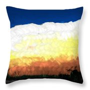 Chaparra Supercell At Sunset Throw Pillow