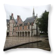 Chapel And Courtyard Chateau Blois Throw Pillow