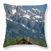 1m9335-chapel And Grand Teton Throw Pillow