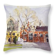 Chapel And Hall  Lincoln's Inn Throw Pillow