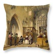 Chapel At Haddon Hall, Derbyshire Throw Pillow