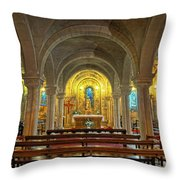 Chapel At Notre Dame Cathedral Verdun Throw Pillow