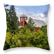 Chapel At The Antique Rose Emporium Throw Pillow