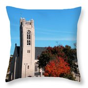 Chapel At The College Of The Ozarks Throw Pillow