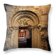 Chapel Entrance Throw Pillow