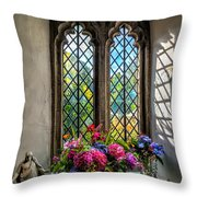 Chapel Flowers Throw Pillow by Adrian Evans