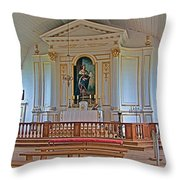 Chapel In King's Bastion In Louisbourg Living History Museum-174 Throw Pillow