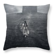 Chapel In Mist Throw Pillow