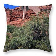 Chapel In Red Rocks Throw Pillow